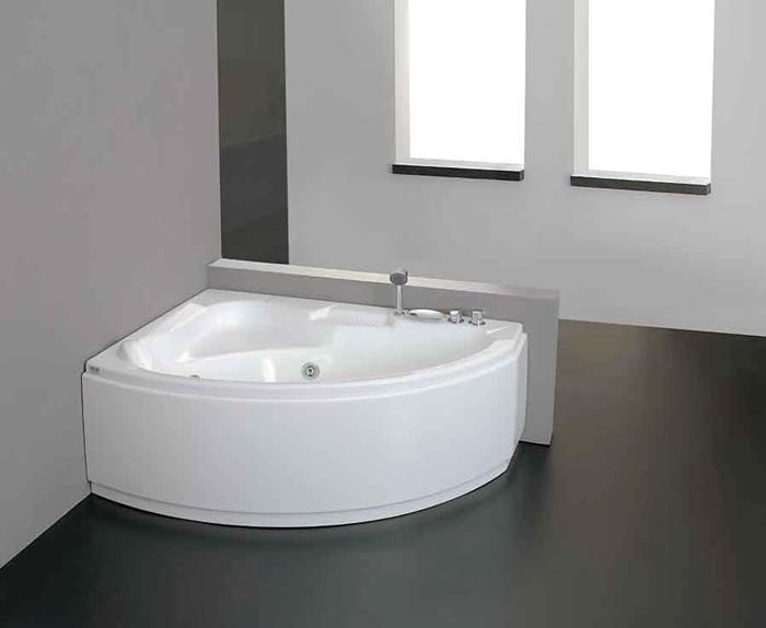 Vasca Da Bagno Asimmetrica Acrilico 155x105 Con Sistema Idro Tiberide Elite Ceramiche Morello